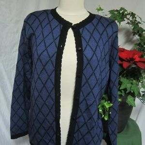 Alfred Dunner S Blue Cardigan Sweater